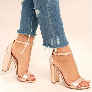 Steve Madden leather rose gold Carrson sandals 9